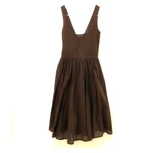 Brown Light Weight Calvin Klein Cotton Dress